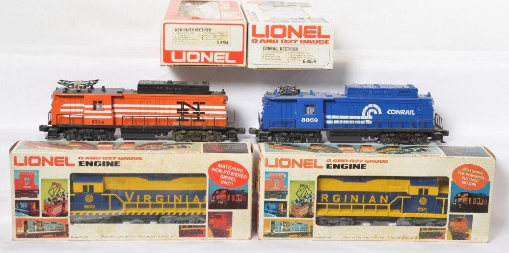 4 Lionel locos 8071, 8072, 8754, 8859