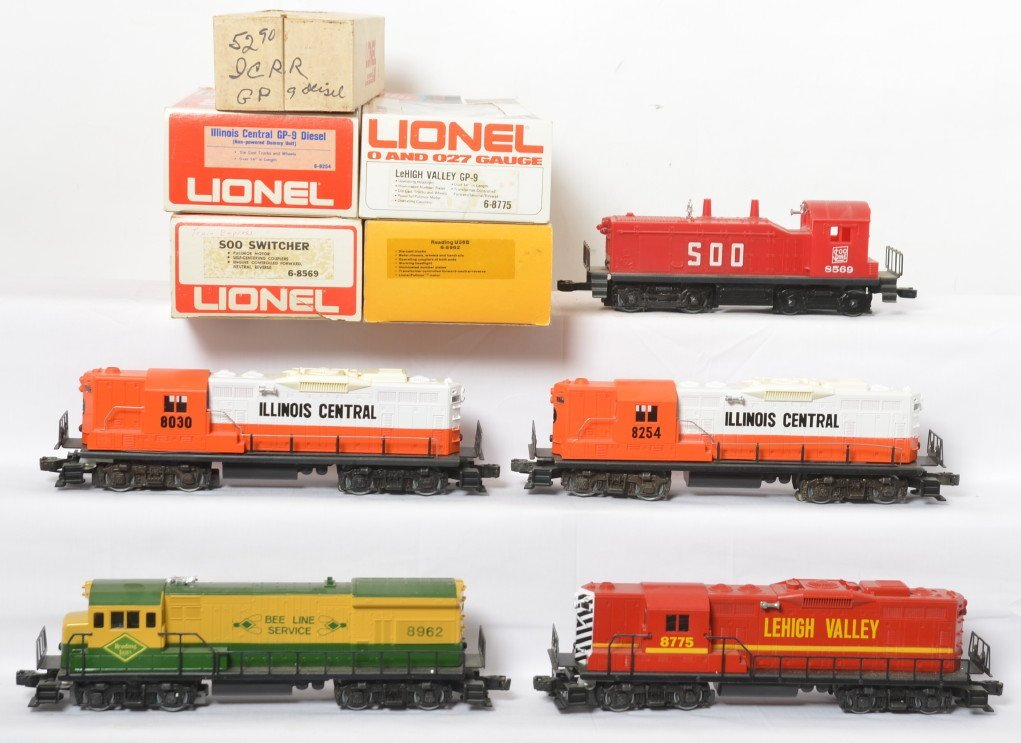 Lionel locos 8569, 8962, 8775, 5290, 8254