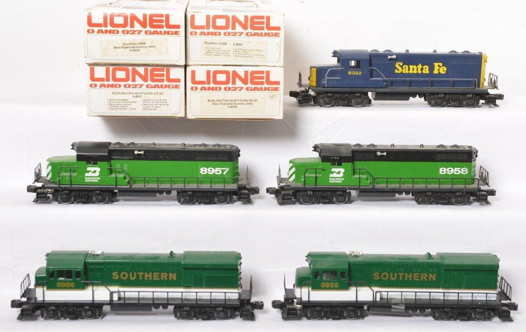 5 Lionel locos 8958, 8957, 8955, 8956, 8352