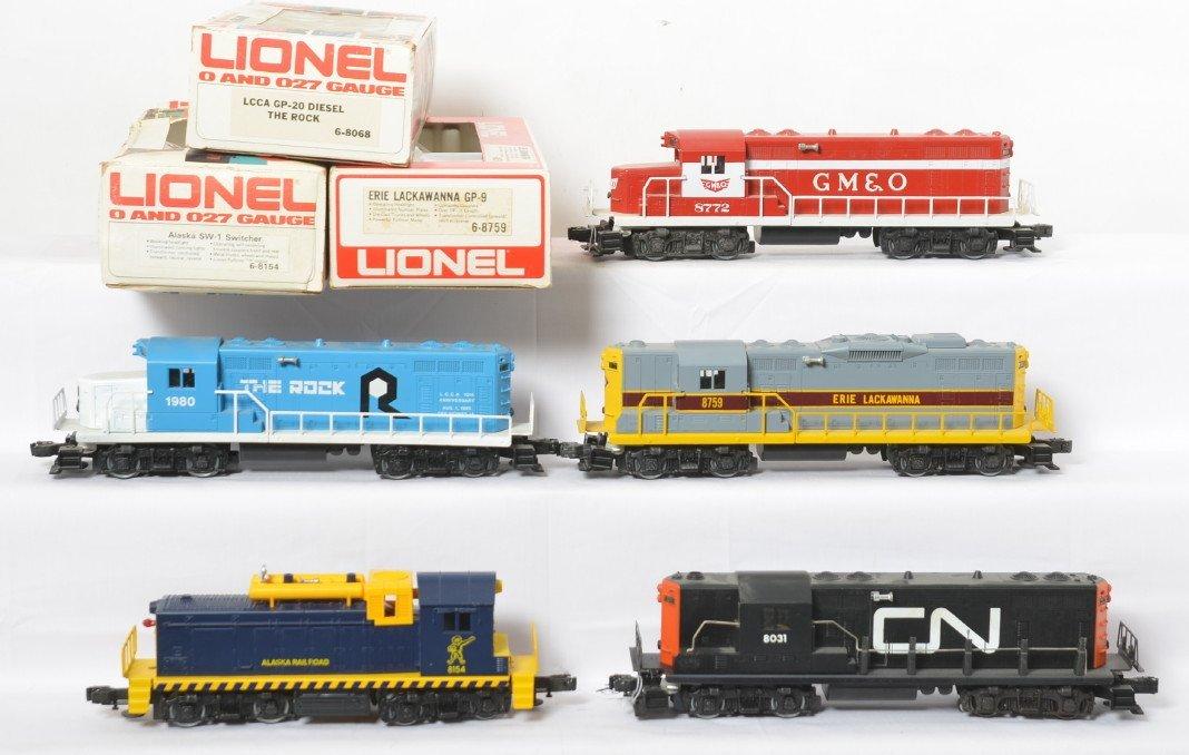 5 Lionel locos 8031, 8772, 8068, 8154, 8759