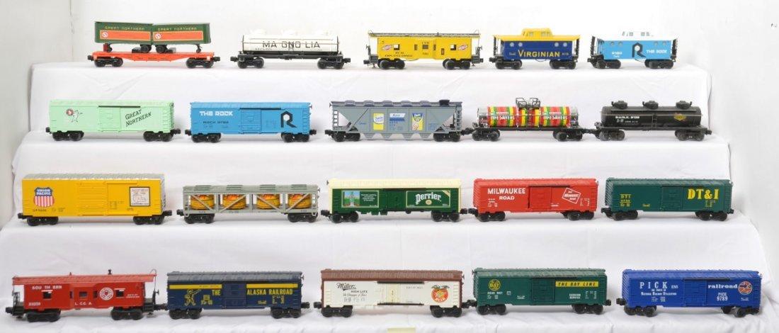 20 Lionel freight cars 9852, 9278, 9116, 9427, etc