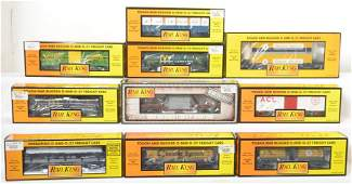 10 Railking freight cars McDonalds ACL CO NW etc
