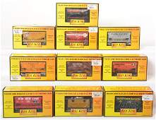 10 Railking ore cars and bobber caboose