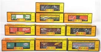 10 Railking boxcars 7456 7485 7475 74103 etc
