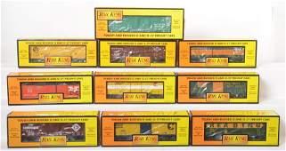 10 Railking boxcars 7438 7467 74021 etc