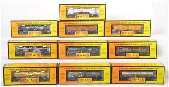 10 Railking tank cars 7334 7349 7310 7317 etc