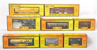 8 Railking freight cars 74185 74076 74116 etc
