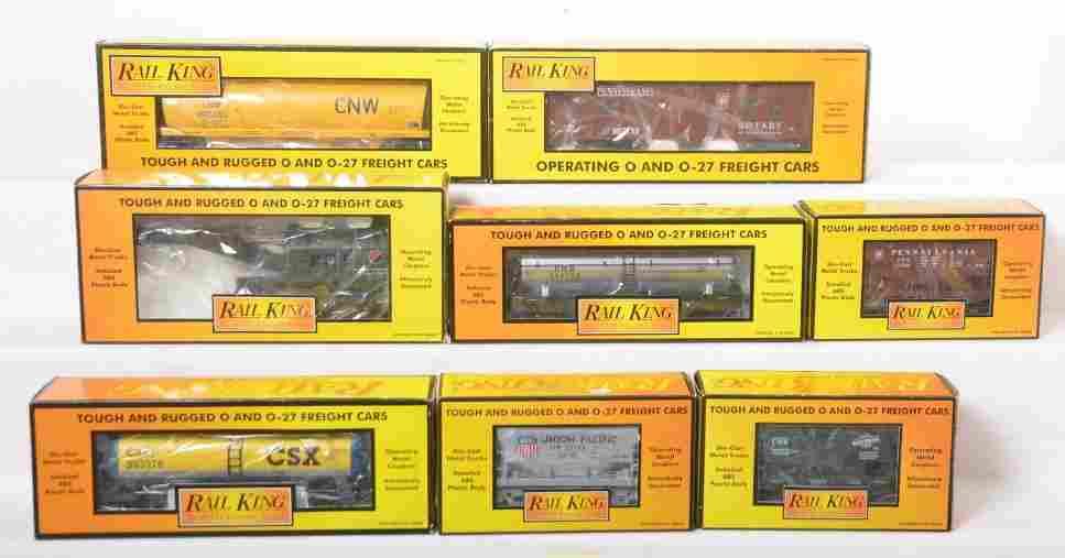 8 Railking freight cars 74185, 74076, 74116, etc