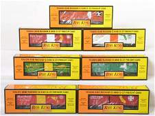 7 Railking state boxcars 74047 74036 74185 etc