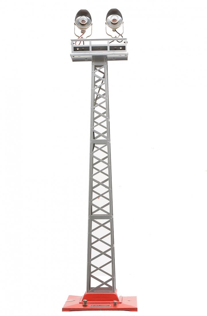 Lionel  92 Aluminum Floodlight Tower w/ Red Base