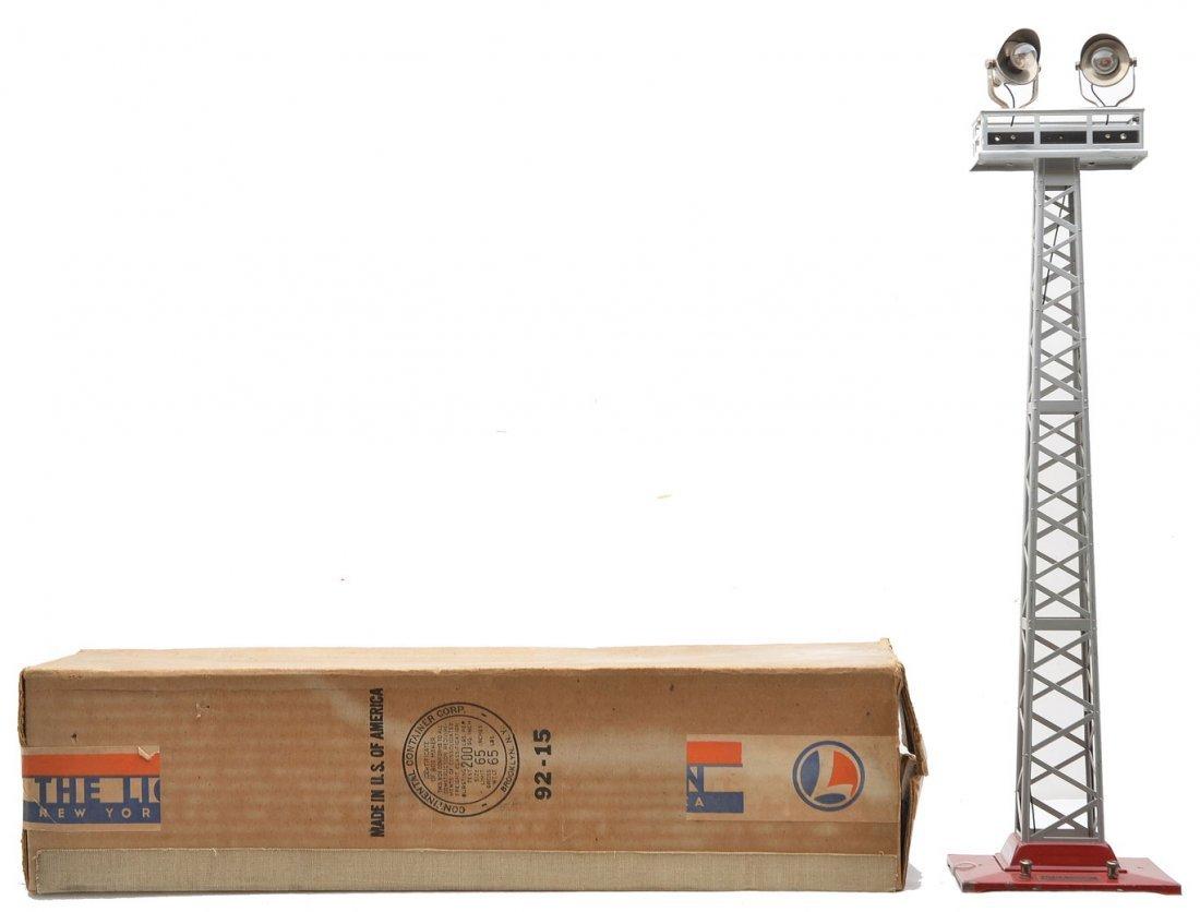 Lionel 92 Aluminum Floodlight Tower Dk. Red Base