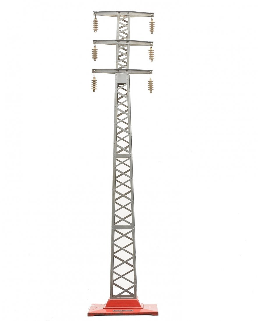 Lionel 94 Aluminum High Tension Tower Red Base