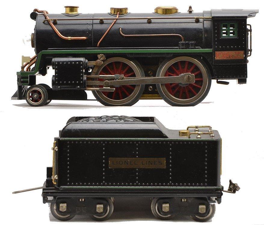 Lionel 384E Steam Loco 384T Tender Gr. Striping