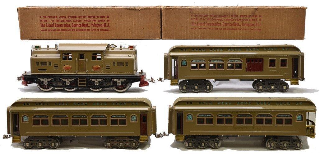 Lionel Std. Ga. Mojave Passenger Set no. 403