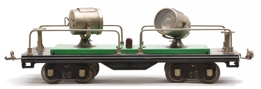 Lionel 520 Searchlight Car w/Nickel Trim