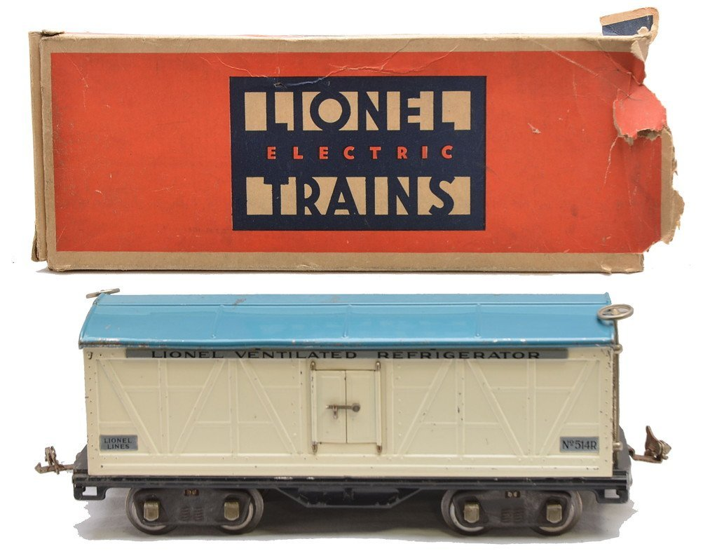Lionel 514R White Refrigerator w/Blue Roof OB
