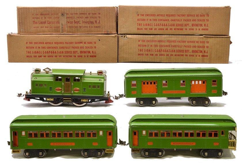 Lionel Pea Green Passenger Set no. 342E OBs