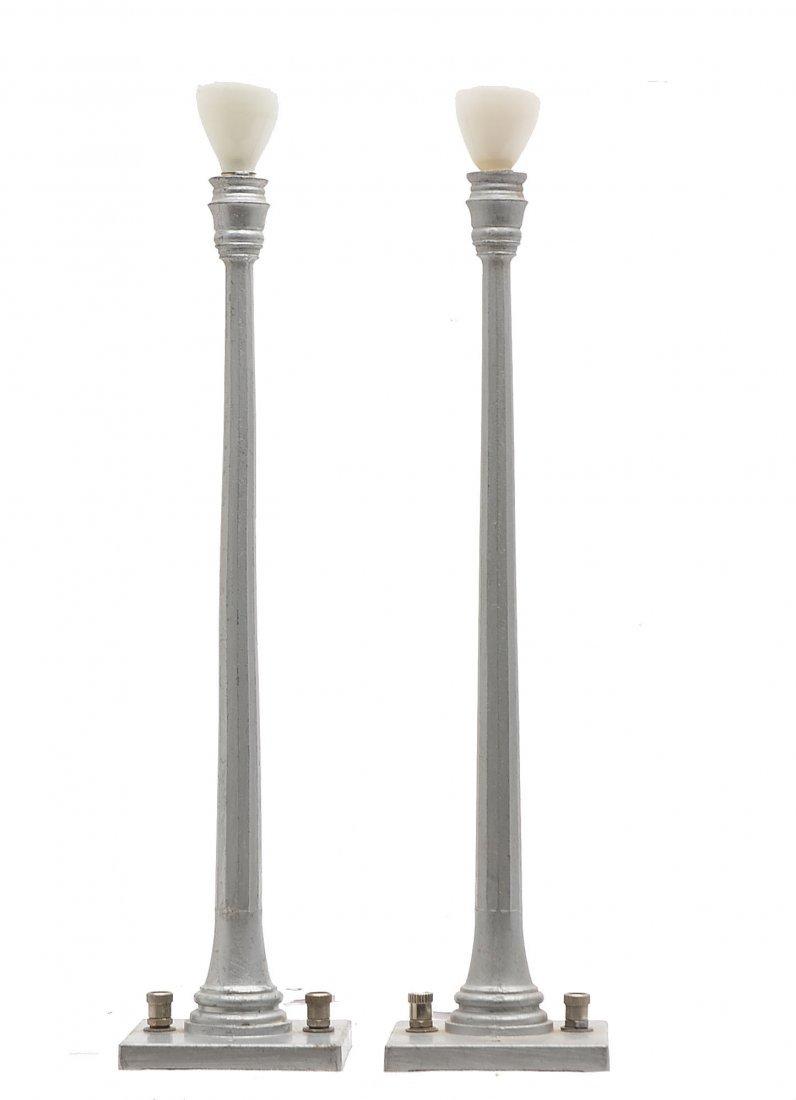 Lionel Prewar 2-52 Aluminum Lamp Posts