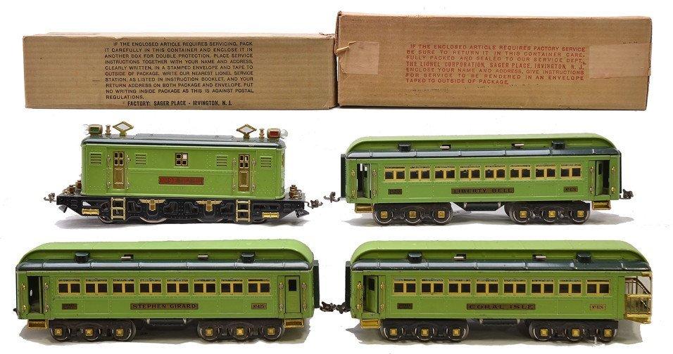 Lionel 2-Tone Green Passenger Set no. 364E