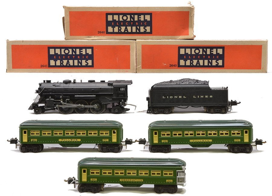 Lionel 2-Tone Green Passenger Set no. 140
