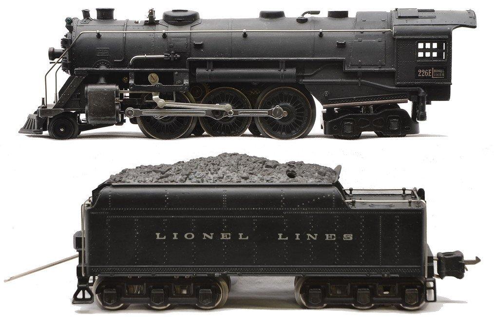 Lionel 226E Black Steam Loco 2226W Tender