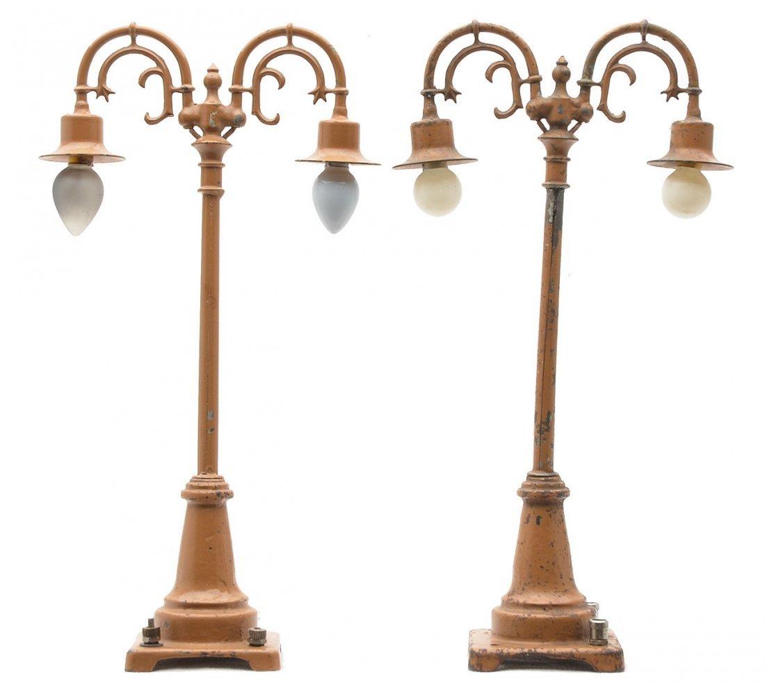 Lionel Prewar two State Brown Lamp Shades
