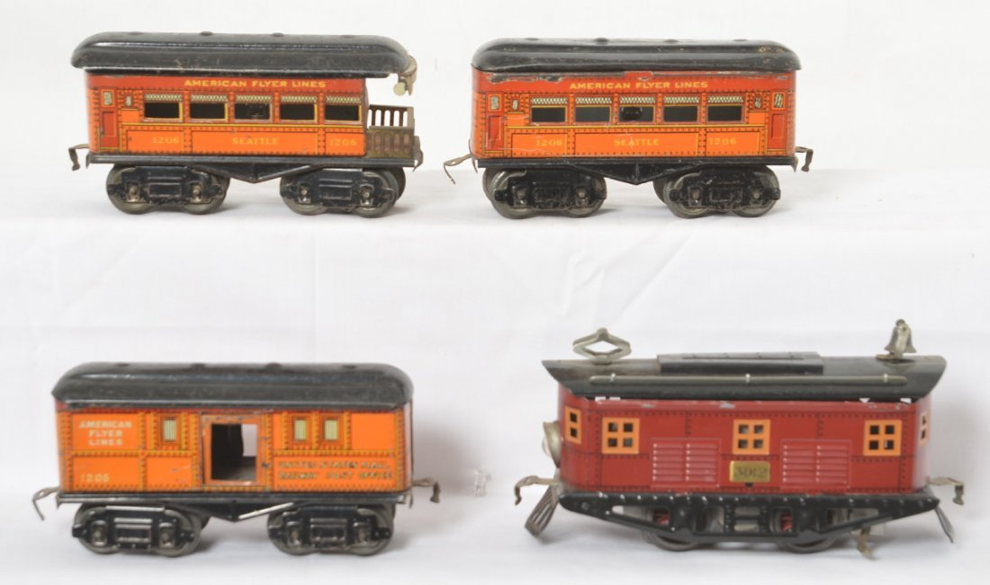 American Flyer 3012 loco, 1205, 1206, 1206 electric