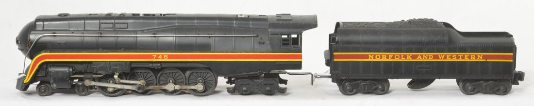 Lionel 746 N&W J class steam loco and long stripe