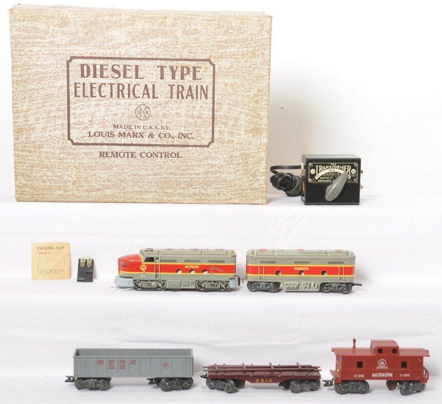 Marx No. 28822 Monon diesel freight in OB