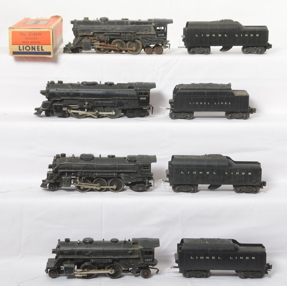 Lionel 675, 2026, 685, 1655, 2046W in OB, 6466WX...