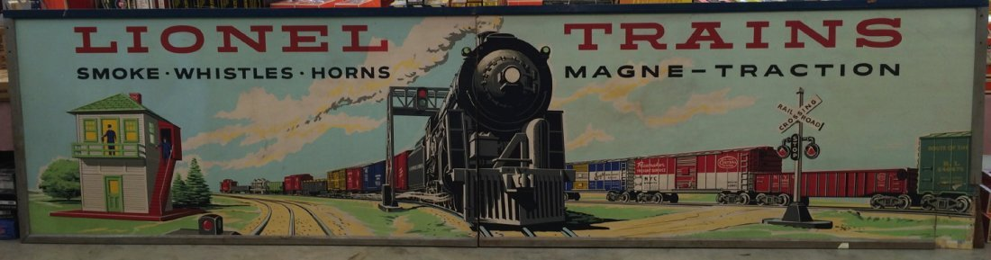 Rare Lionel 16 foot wide D145 dealer display mural