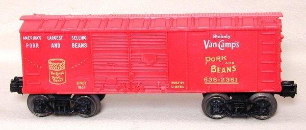 600: Mint Lionel 638-2361 Van Camp's boxcar