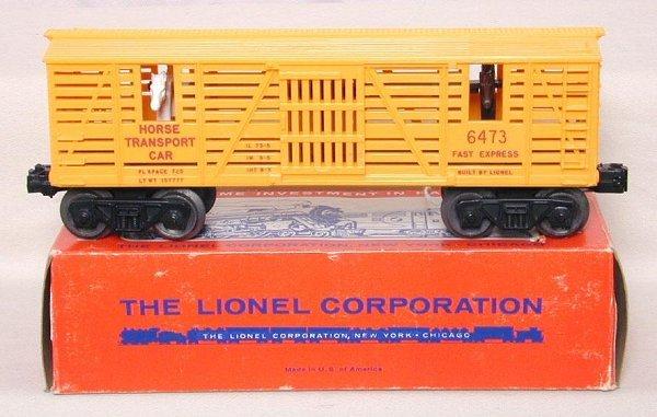 602: Mint Lionel 6473 Horse car, OB
