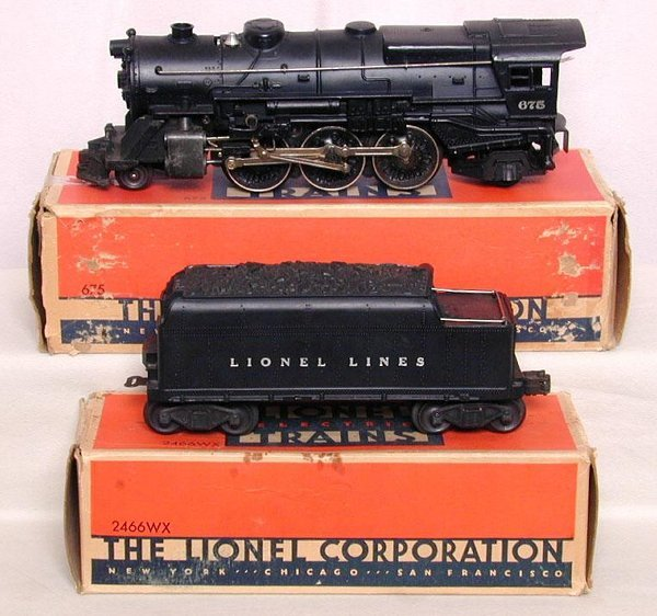 603: Lionel 675 Steam and tender in OB