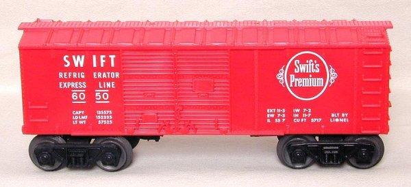 604: Lionel 6050 Swift's boxcar, mint