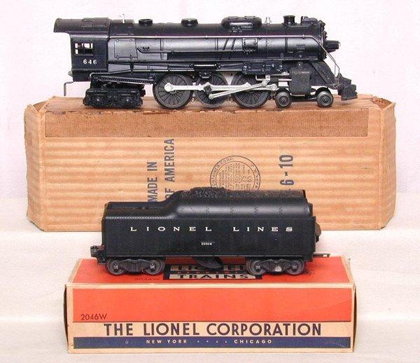 609: Lionel 646 Hudson and tender, OB