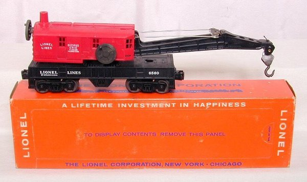 611: Lionel 6560-25 crane, unrun, OB