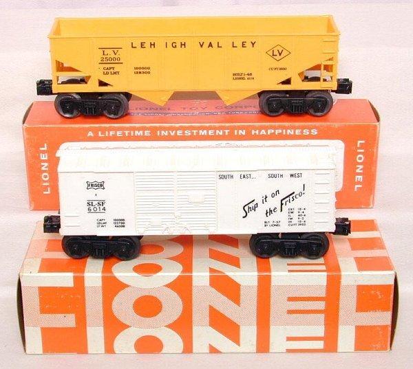612: Lionel 6014-410, 6176, OB's, mint