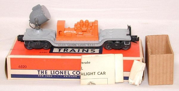 613: Mint Lionel 6520 searchlight car, OB