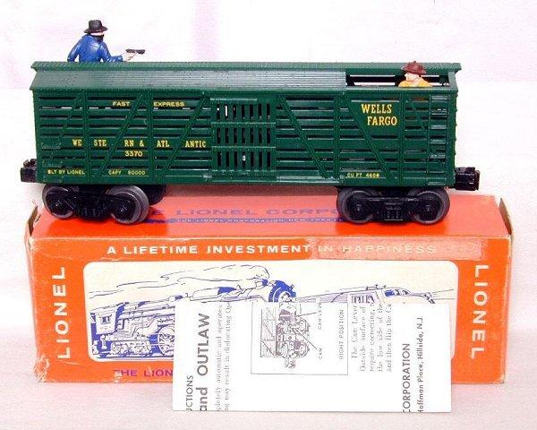 616: Lionel 3370 W&A stock car, OB, unrun