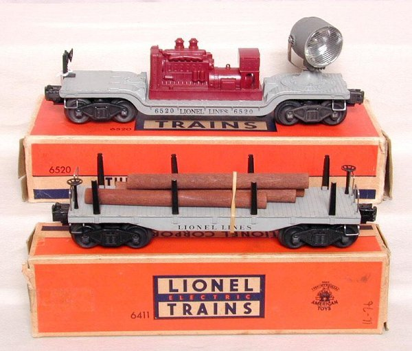 619: Lionel 6520 & 6411 cars, OB