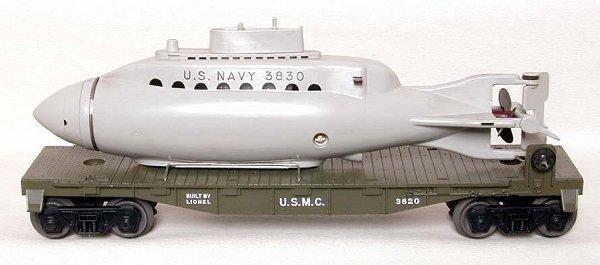 852: Lionel olive 3820 submarine flat