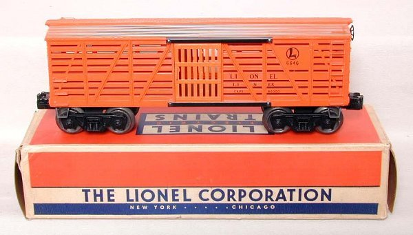 855: Lionel 6646 stock car in tough OB