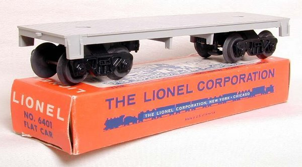 857: Mint Lionel 6401 flat in tough OB