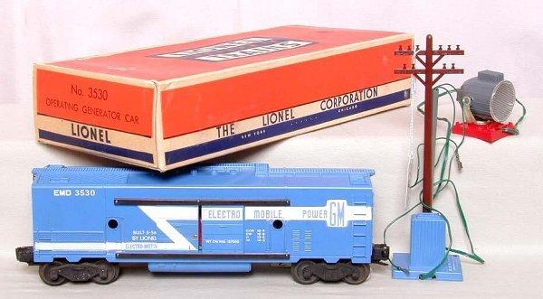863: Mint Lionel 3530 generator car, OB