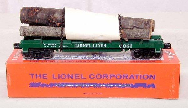 865: Mint Lionel 6361 log car, OB