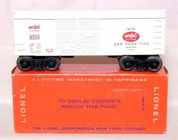 873: Mint Lionel 6014 Wix boxcar, OB