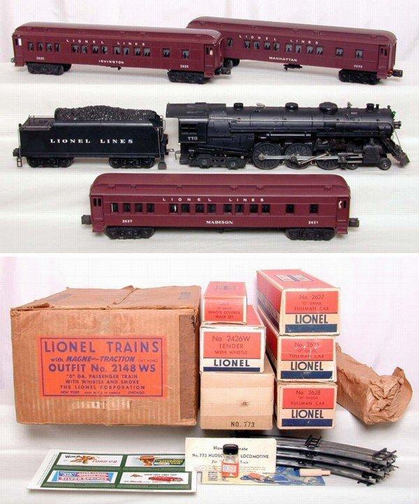 1123: Lionel 2148WS boxed 1950 Hudson Set