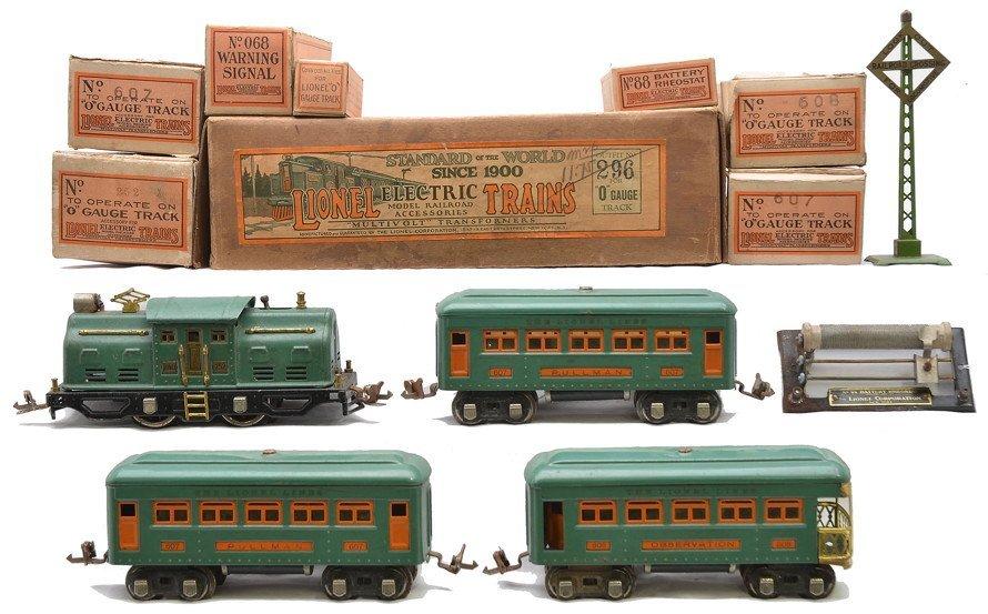 Lionel Peacock Passenger Set no. 296
