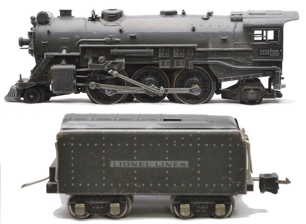 Lionel 225E Gunmetal Steam Loco 2265W Tender